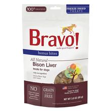 Bravo! Bonus Bites Freeze Dried Dog Treat - Buffalo Livers