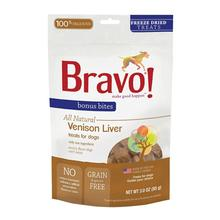 Bravo! Bonus Bites Freeze Dried Dog Treat - Venison Liver