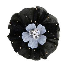 Bridget Rosette Dog Bow By Pinkaholic - Black