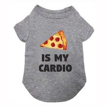 fabdog® Pizza is my Cardio Dog Shirt - Heather Gray