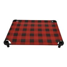 Buffalo Check Premium Weave Dog Cot - Red and Black