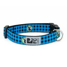Buffalo Plaid Adjustable Dog Collar by RC Pet - Blue