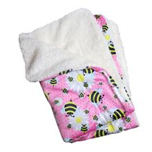 Bumblebee and Flowers Ultra Soft Minky/Plush Dog Blanket by Klippo
