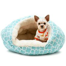 Burger Pet Bed by Dogo - Blue Geo Diamond