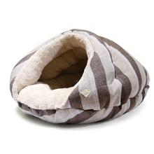 Burger Pet Bed by Dogo - Brown Stripes