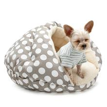 Burger Pet Bed by Dogo - Polka Dot Gray