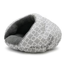 Burger Pet Bed by Dogo - Gray Geo Diamond