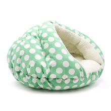 Burger Pet Bed by Dogo - Polka Dot Green