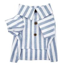 Cabana Stripe Linen Dog Shirt by Dog Threads