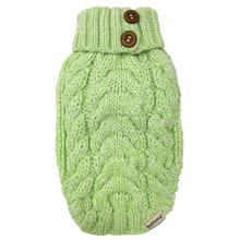 Cable Knit Dog Sweater by foufou Dog - Lime Green