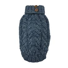 Cable Knit Dog Sweater by foufou Dog - Denim Blue