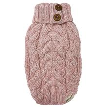 Cable Knit Dog Sweater by foufou Dog - Baby Pink