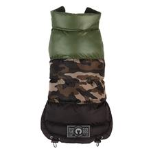 fabdog® Colorblock Puffer Dog Coat - Camo