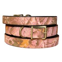 Camouflage Dog Collar by Auburn Leathercrafters - Pink