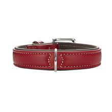 HUNTER Canadian Elk Leather Dog Collar - Chili/Mocha
