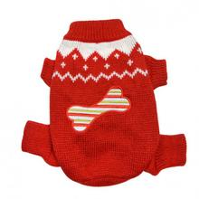Candy Cane Bone Holiday Dog Sweater Bodysuit