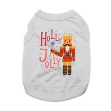 Holly Jolly Nutcracker Dog Shirt - Gray