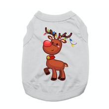 Reindeer with Christmas Lights Dog Shirt - Gray