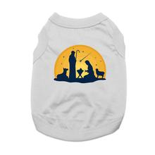 Nativity Scene Dog Shirt - Gray