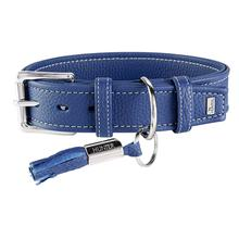 Cannes Leather Dog Collar by HUNTER - Blue