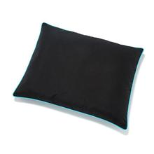 Canvas Outdoor Dog Futon by Up Country - Black with Aqua Trim