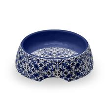 Canyon Clay Dog Bowl by TarHong - Indigo