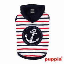 Capitane Hooded Dog Shirt by Puppia - Navy