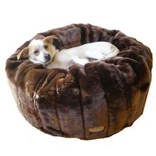 Caramel Cocoa Tiger Dreamz Beddy-Ball Dog Bed