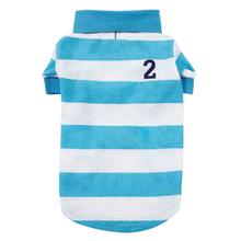 Casual Canine Blue Striped Polo Dog Shirt