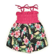 Casual Canine Hawaiian Breeze Dog Dress - Black and Pink