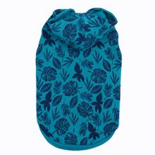 Casual Canine Hawaiian Breeze Dog Hoodie - Blue