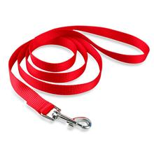 Casual Canine Nylon Dog Leash - Tomato Red