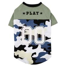 Casual Canine Camo Player Dog Shirt - Blue