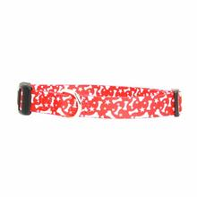 Casual Canine Pooch Pattern Dog Collar - Red with Bones