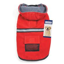 Casual Canine Reflective Hooded Dog Jacket - Red