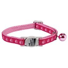 Meow Town Two Tone Pawprint Cat Collar - Pink