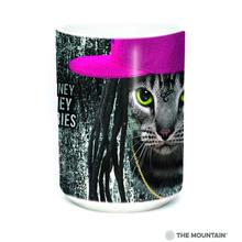 Cat Money Billionaires Ceramic Mug by The Mountain