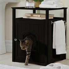 Cat Washroom and Night Stand - Espresso