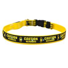 Caution Nervous Traffic Light ORION LED Dog Collar by Yellow Dog
