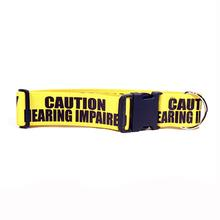 Caution Dog Collar by Yellow Dog - Hearing Impaired