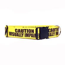 Caution Dog Collar by Yellow Dog - Visually Impaired