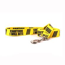 Caution Dog Leash by Yellow Dog - I Will Bite
