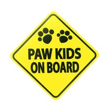 Caution Magnet - Paw Kids on Board