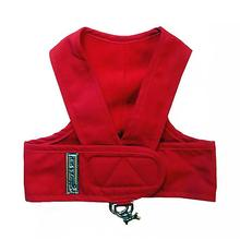 Original Cloak & Dawggie Step-N-Go Fleece Lined Dog Harness - Red