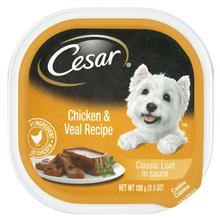 Cesar Classic Loaf in Sauce Wet Dog Food - Chicken & Veal
