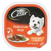 Cesar Classic Loaf in Sauce Wet Dog Food - Chicken & Liver