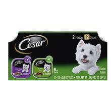 Cesar Classic Loaf in Sauce Wet Dog Food - Variety Pack Top Sirloin/Grilled Chicken