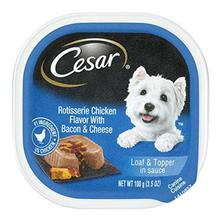 Cesar Savory Delights Wet Dog Food - Rotisserie Chicken with Bacon & Cheese