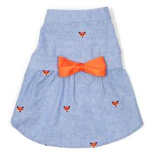 Chambray Foxy Dog Dress by Worthy Dog