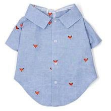 Chambray Foxy Dog Shirt by Worthy Dog